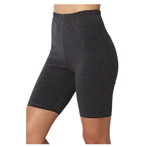 Las señoras al aire libre ejercicio liso activo verano Ciclismo pantalones cortos estiramiento básico corto caliente sólido negro suave desgaste pantalones cortos para las mujeres mujeres