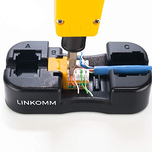 LINKOMM Keystone Jack Punch-Down Handheld Termination Palm Holder Stand (Black)