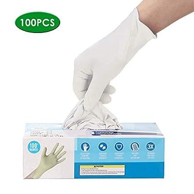 white nitrile gloves medium