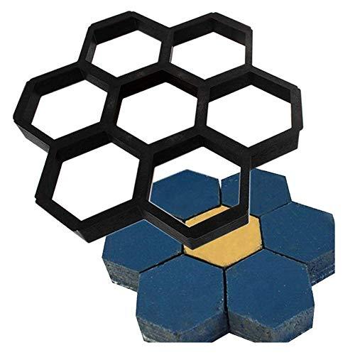 Sjabloon voor beton Honeycomb Hexagon wandelen maker trampoline herbruikbaar paver vormen baksteen schimmel beton DIY tuin walkway pavement zwart eenvoudig