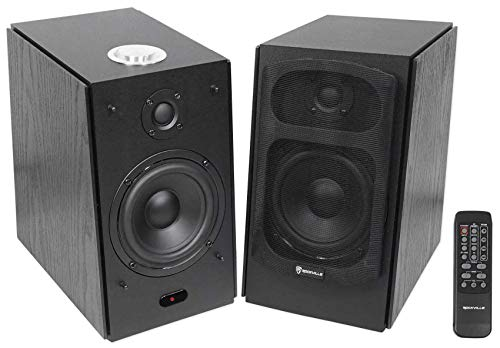 (2) Rockville HD5B 5' 150w RMS Powered Bluetooth Bookshelf Home Theater Speakers
