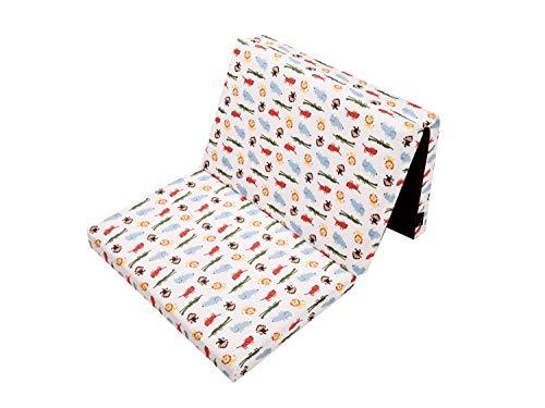 Faltmatratze Baumwolle für Reisebett, Kinderbett Klappmatratze 60x120 Matratze Bezug Ökotex100 100% Baumwolle hochwertige Reißverschlüsse, Kinderschutz (Dschungel)