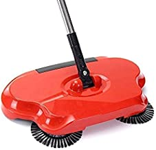 ZOSOE Easy Use Auto Spin Hand Push Sweeper Mop Dust Bin 360 Rotary Dustpan Household Cleaning Tools for Floor, Broom with Handle (Multicolour)