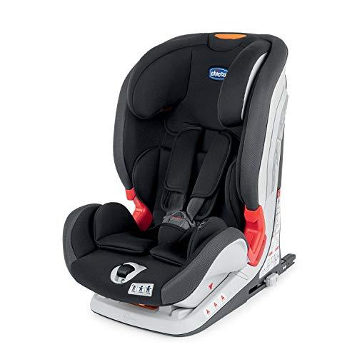 Chicco Youniverse Fix Seggiolino Auto 9-36 kg Reclinabile ISOFIX, Gruppo 1/2 / 3 per Bambini da 1 a 12 Anni, Facile da Installare, con Protezione Laterale e Poggiatesta Regolabile - Nero