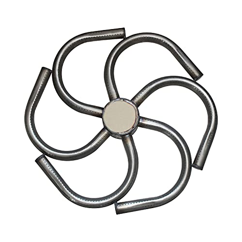 Ring fire pit burner butane camping stove propane outdoor firebowl gas fire pit table round stainless steel