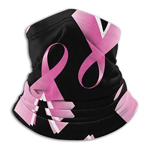 XCNGG Cinta Rosa para cáncer de Mama Bufanda Multifuncional para la Cara para Adultos/niños Cálida y Resistente al Viento Cuello de Microfibra UV Bufanda Unisex cálida para Correr, Andar en biciclet