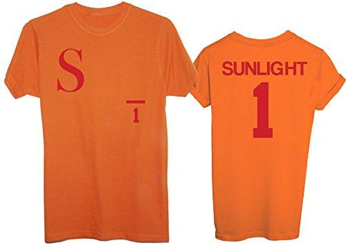 New Indastria T-Shirt Sunlight Players Mila E Shiro Fronte E Retro Pallavolo - Uomo-L - Arancione