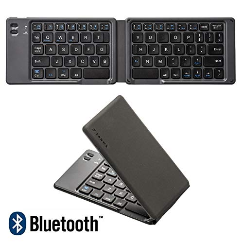 SANWA (Japan Brand) Foldable Bluetooth Keyboard, Rechargeable Wireless Ultra Slim Pocket Size, Compatible with iOS Windows Android, for Computer PC Laptop MacBook iPad iPhone Smartphone Tablet