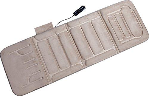 Cheapest Prices! Relaxzen 10-Motor Massage Standard Mat with Heat, Beige