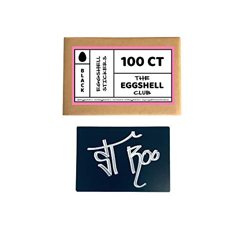 The Eggshell Club | Aufkleber Rohlinge | 100 Stück Black