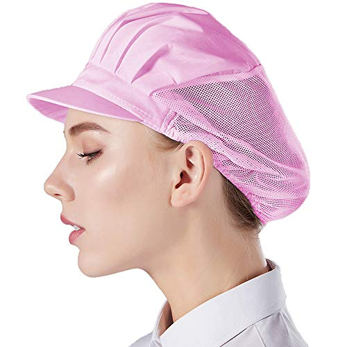 Nanxson 3pcs Chef Hat Kitchen Cooking Chef Cap Food Service Hair Nets CF9033 (pink3pcs, one Size)