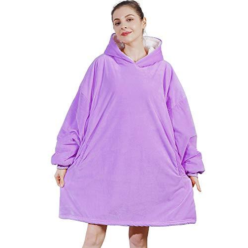 AmyHomie Blanket Sweatshirt, Oversized Sherpa Hooded Sweatshirt,Wearable Fleecehug Hoodie Blanket...