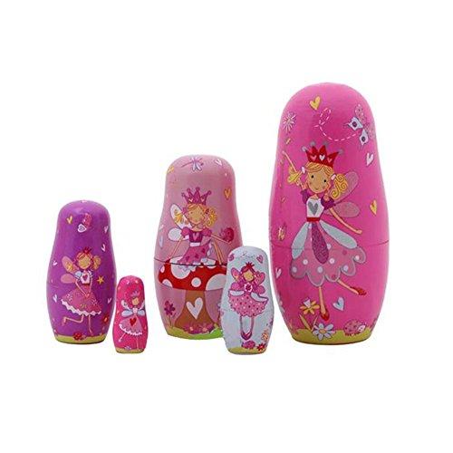 lzndeal 5 poupées gigognes Mignon Bois russe Matriochka animal cadeau de Noël - motif animal, 15cm