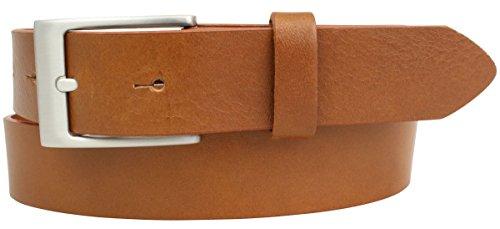 Kinder-Gürtel aus Vollrindleder 3 cm | Ledergürtel für Jungen/Mädchen 30mm | für Jeans, Anzug, Kleid, Rock | Cognac 70cm