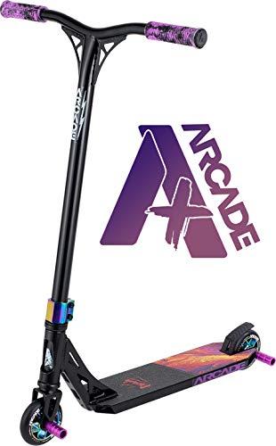 Arcade Plus Patinete Pro Scooters Freestyle - Patinetes Freestyle - Stunt Scooter - Patinetes de Acrobacias (Negro/Morado)