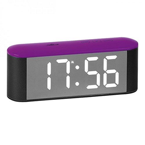 Atlanta Nerd Clear 1133 8 Réveil numérique avec grand écran LED Violet