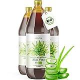 Aloe Vera Saft 100% BIO [NEU] - Einführungsangebot - 3 Liter - Direktsaft, gefiltert - Premium Qualität mit 1.200mg Aloverose, kontrolliert und abgefüllt in Deutschland