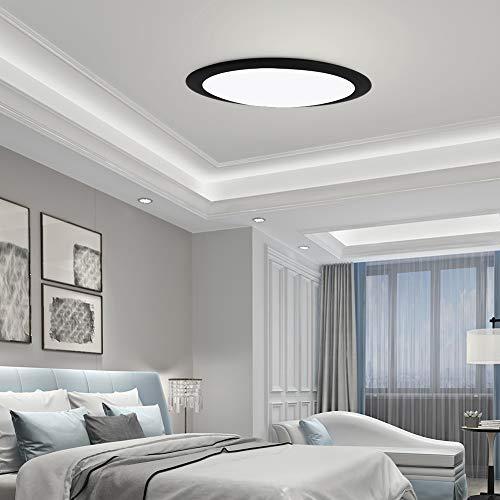Ankishi 36W Plafón LED Techo, 3600LM Plafón de Techo Redondo, Ultra Delgado Iluminación de techo 6500K(Blanco Frío), Lampara LED de Techo Empotrada Adecuada para Baño Cocina Pasillo.