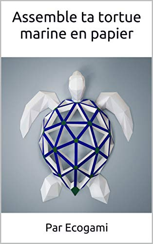 Assemble ta propre tortue marine en papier: DIY décoration murale | Sculpture 3D | Patron papercraft (Ecogami / sculpture en papier t. 55) (French Edition)