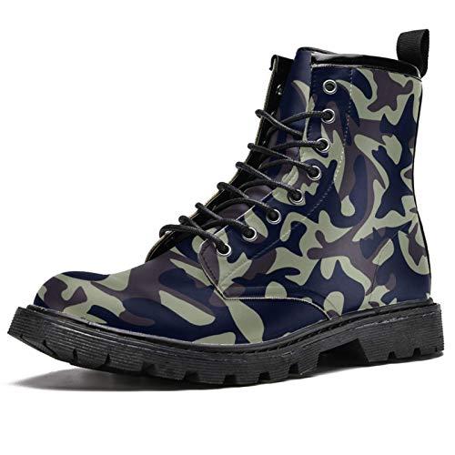 Lorvies Multicam Digitaler Stiefel für Herren, Schnürschuhe aus Leder, - mehrfarbig - Größe: 40 EU