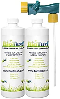 BioTurf BioS+ 32oz Dual Pack Turf Concentrate Cleaner - Buy 1 get 2nd on 1/2 Off Plus. Commercial Grade Artificial Turf Cleaning Enzyme for All Surfaces Including Tile, Carpet and Grass