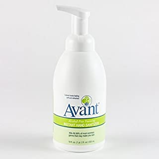 18 oz Pump Bottle - Avant Alcohol-Free Foaming Hand Sanitizer, Case of 6