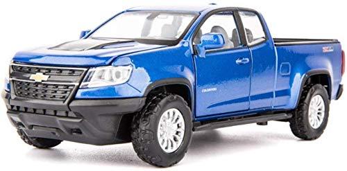 hclshops Modelo del Carro del camión 1,32 simulación de fundición a presión de aleación de Coches de Juguete Modelo de decoración (Color, Brown), Azul (Color : Blue, Size : One Size)