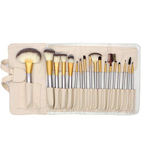 12/18/24Pcs Pinceaux Maquillage Kit,Beige Professionnel Cosmétique Brush Avec Sac,Pour Fond De Teint,Blush,Correcteur,Fard À Paupières,18pcs