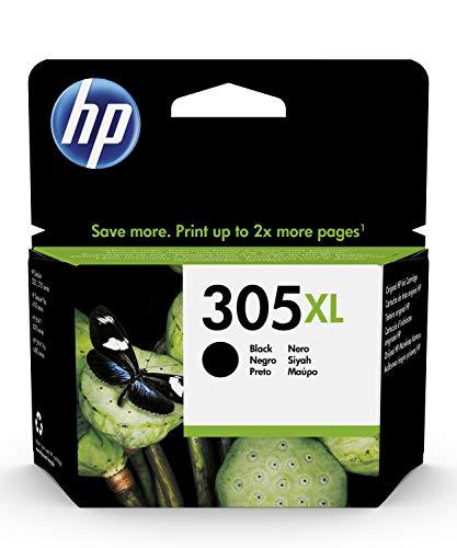 HP 305XL 3YM62AE, Negro, Cartucho de Tinta de Alta Capacidad Original, compatible con impresoras de inyección de Tinta HP DeskJet Series 2700, 4100, Envy Series 6020, 6030, 6400 y 6430