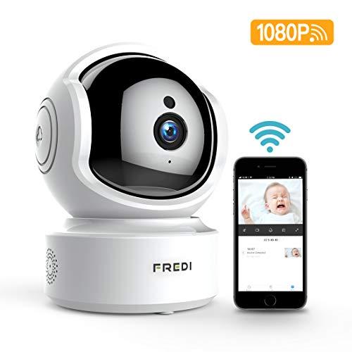 Babyphone WLAN IP Kamera FREDI Überwachungskamera 1080P HD WiFi Baby Camera Monitor,Cloud Speicherung,Baby Weint,Nachtsicht mit Bewegungserkennung Indoor