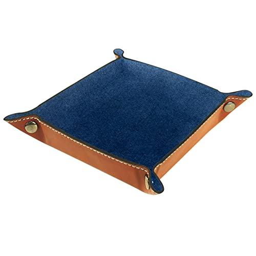 Blu navy, Valigia in pelle per Organizzatore di Gioielli Desktop Storage Chiave Dadi Portafogli Cellulari Comodino o Comò Organizzatore