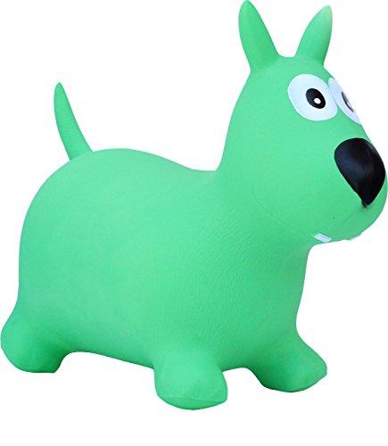 HAPPY GIAMPY Cane Gioco Gonfiabile Cavalcabile per Bambini - Colore Verde