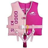 Gilet de bain pour enfants Gilet de maillot de bain pour tout-petits apprendre à nager, gilet de formateur pour enfants avec sifflet d'urgence et sangle de sécurité réglable