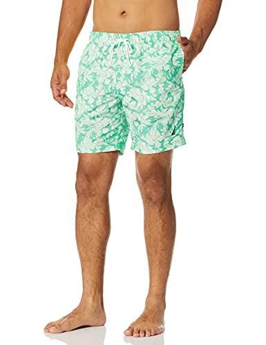 Nautica Men's Quick Dry Palm Print Series Swim Trunk, Mint Spring, XX-Large