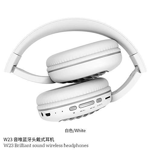 HPPLStereo Folding Universele sporttelefoon draadloze headset Bluetooth headset, wit