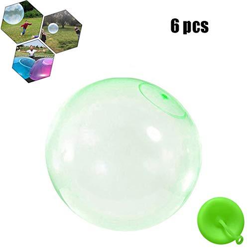 Bubble Ball, Enfants Extérieurs Doux Squishies Air Rempli d'eau Bulle Bubble Ball Blow Up Ballon Jouet Fun Party Game pour Enfants Cadeau Gonflable,Vert,XL
