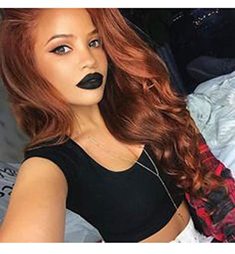 Vebonnie 2019 Synthetic Copper Red Lace Front Perücken für Damen, schöne natürlich aussehende am besten gewellte synthetische lange Haarperücken 22 Zoll