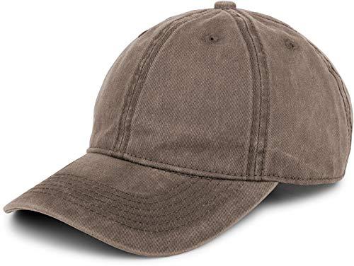 styleBREAKER styleBREAKER 6-Panel Vintage Cap im Washed Used Look, Basecap, Baseball Cap, verstellbar, Unisex 04023054, Farbe:Taupe