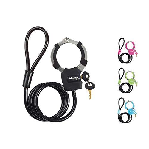 MASTER LOCK Kabelschloss mit Schlüssel [Kabel 1m] 8275EURDPRO, Farblich sortiert