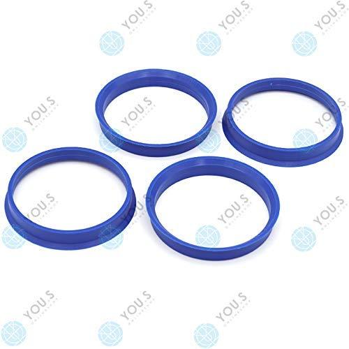 YOU.S ZENTRIERRING Lila bzw. Blau für ALUFELGEN 65,1 x 60,1 mm (4 Stück) - P10