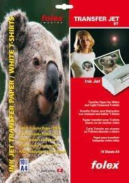 Bramacartuchos - Folex Papel Transfer para hacer Camisetas Blancas (A4 10 Hojas) Calidad Suiza