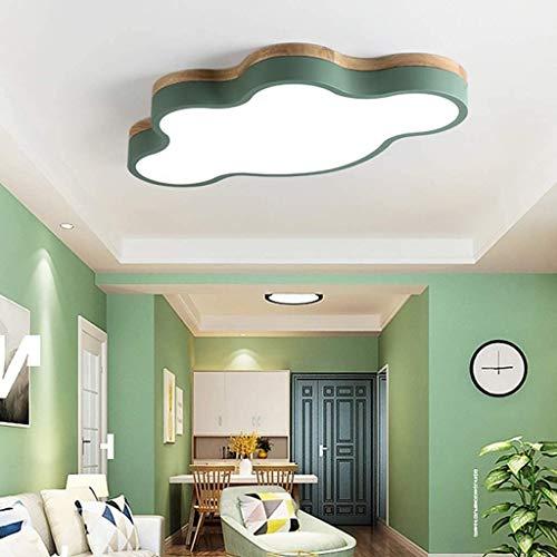 CattleBie De Techo del LED Ultra-Delgadas 7cm Creativas Nubes lámpara de Techo Nursery Cubierta Niños y Niñas de luz Dormitorio Simple lámpara de Dibujos Animados romántica lámpara de Techo de Madera