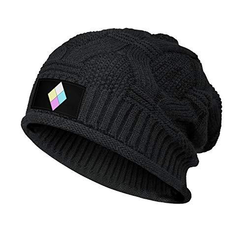 Womens Men's Steven-Universe-Diamond-Authority- Slouchy Beanie Hat Stretchy Baggy Knit Caps Black Skull Cap