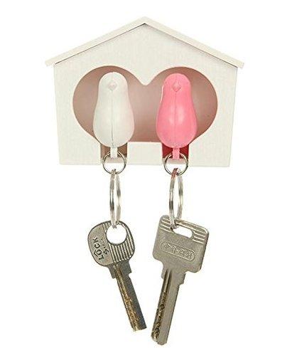 DDGE DMMS Schlüsselanhänger Vogelhaus Duo Farbe: Pink