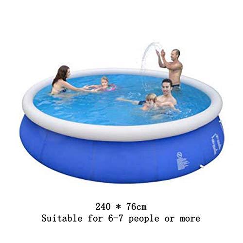 SHARESUN Aufblasbare Schwimmbecken, 240 * 76Cm Runde Pool, Für Kinder Und Erwachsene Großer Kinderpool Außenpool