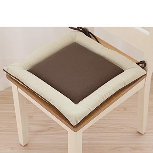 YU&AN Coussin de Chaise carrée,Coussin de siège de Chaise étudiant,Coussin de Chaise épaisse Coussin de siège Coussin extérieur pour Jardin Table Office-A 40x40x3.5cm(16x16x1)