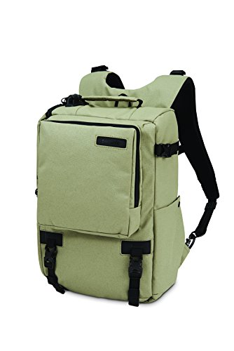 Pacsafe Camsafe Z16 Anti-Theft Camera and 13-Inch Laptop Backpack, Slate Green