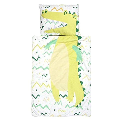 HTYG Saco de Dormir de algodón Suave para guardería Preescolar-con Almohada extraíble Suave para niños y niñas Siesta en la guardería-Edades 1-3 años (90 × 65 cm)