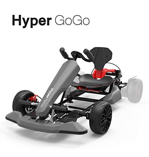 %14 OFF! HYPER GOGO GoKart Kit - Hoverboard Attachment - Compatible with All Hover Boards,Grey