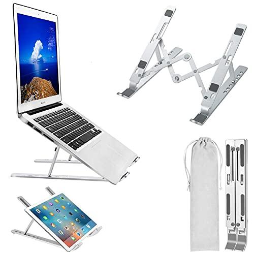 Svilpy - Supporto PC Portatile Regolabile in Lega di Alluminio Rialzo Computer da Scrivania per Notebook Fino a 15,6 Pollici Alza Laptop Compatibile con MacBook Air PRO, Huawei Matebook D Surface